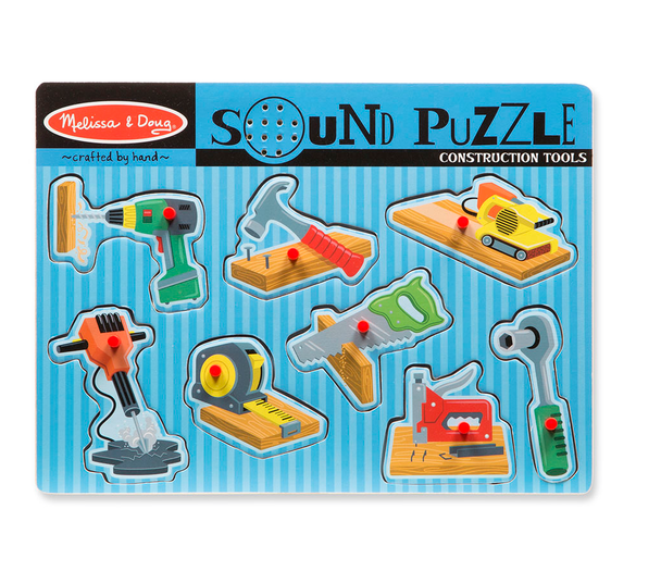 Construction Tools Sound Puzzle by Melissa & Doug