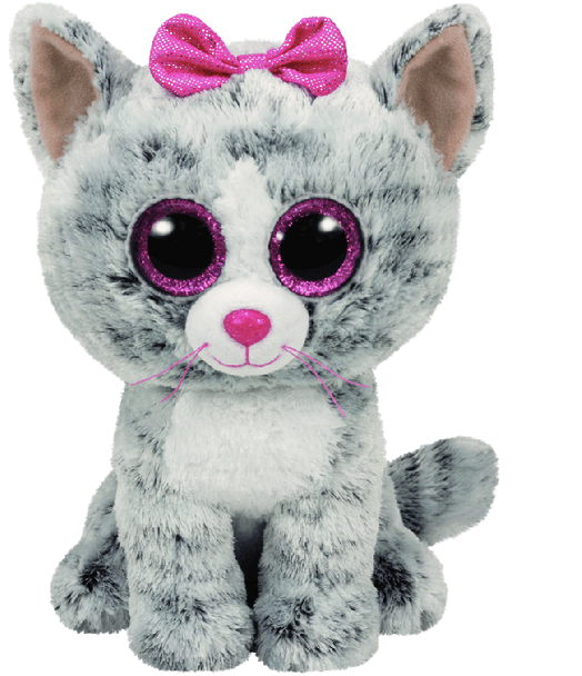 Kiki the Grey Cat (Medium) - TY Beanie Boos