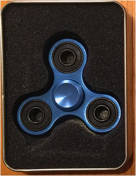 Blue Aluminium Alloy Fidget Spinner