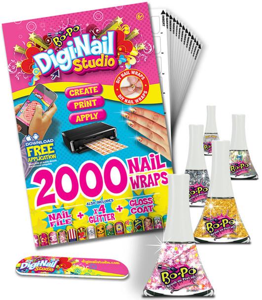 Bo-Po Digi-Nail Polish Studio Party Pack 2,000 Nail Wraps