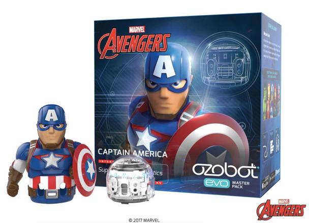 Ozobot EVO Marvel Avengers Captain America - STEM Robotics - ON SALE