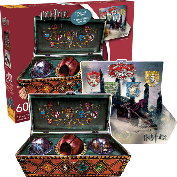 Harry Potter Quidditch Set Double Sided Puzzle 600 pieces