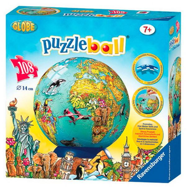 Children's Globe 3D PuzzleBall 108pc