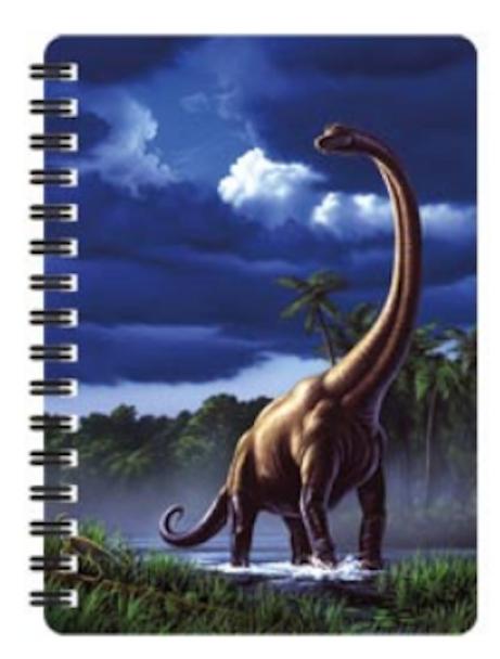 3D LiveLife Jotter – Brachiosaurus A6 Notebook
