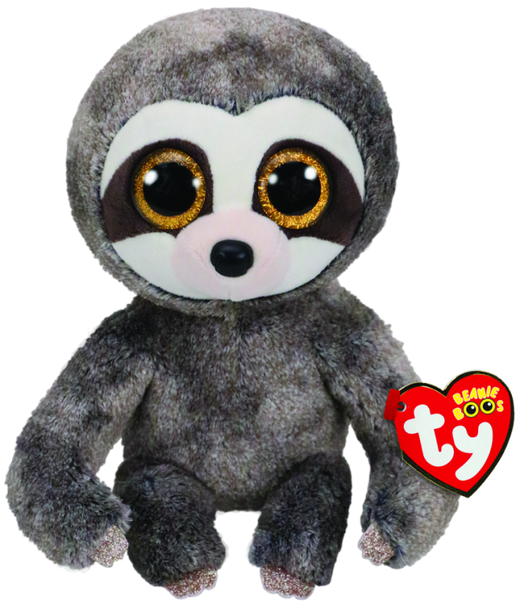 TY Beanie Boos Medium Dangler the Grey Sloth - 23cm