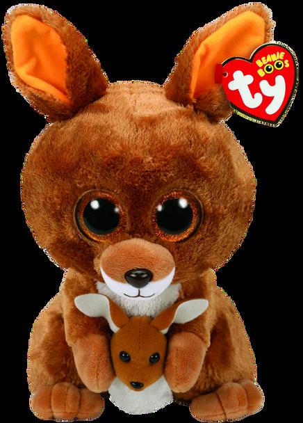 TY Beanie Boos Medium Kipper the Brown Kangaroo - 23cm