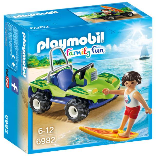 Playmobil PMB6982 Surfer with Beach Quad