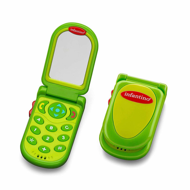 Infantino Flip & Peek Fun Phone - Green