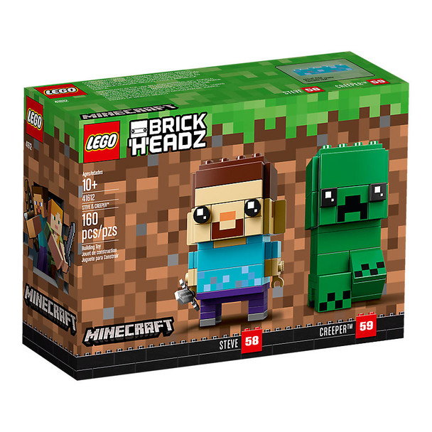 Lego Brick Headz 41612 Steve & Creeper