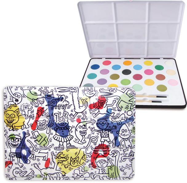 Keith Haring Large Tin Painting Set