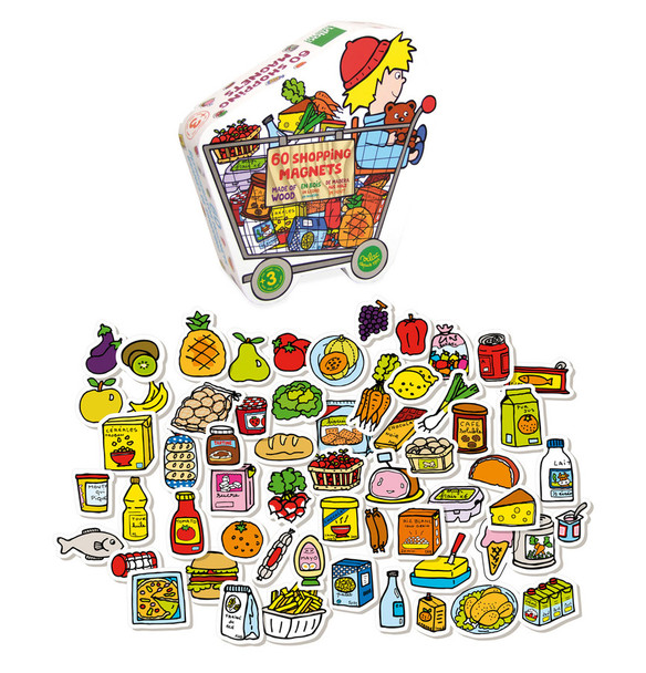 Grocery Store Kids Magnet Set