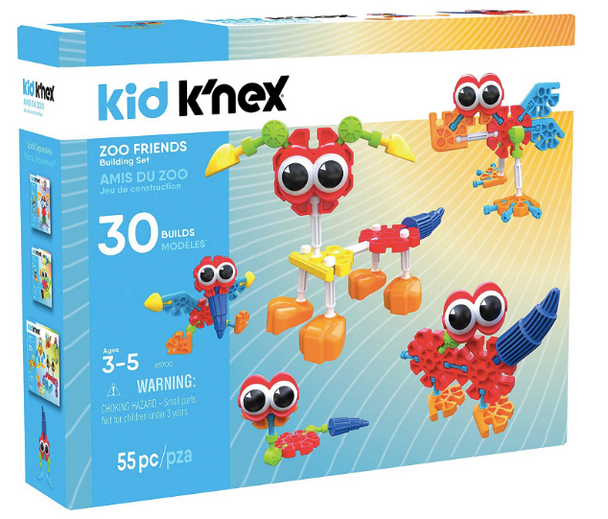 Kid K'Nex Zoo Friends Building Set - 55 Pieces