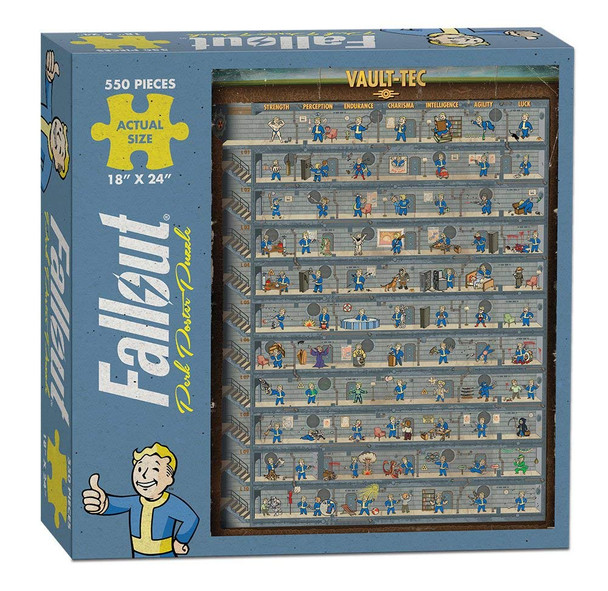 Fallout Perk Poster Puzzle - 550 Pieces