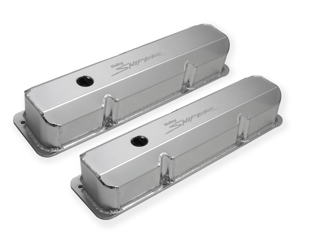 Holley Sniper Fabricated Aluminum Valve Covers 890001