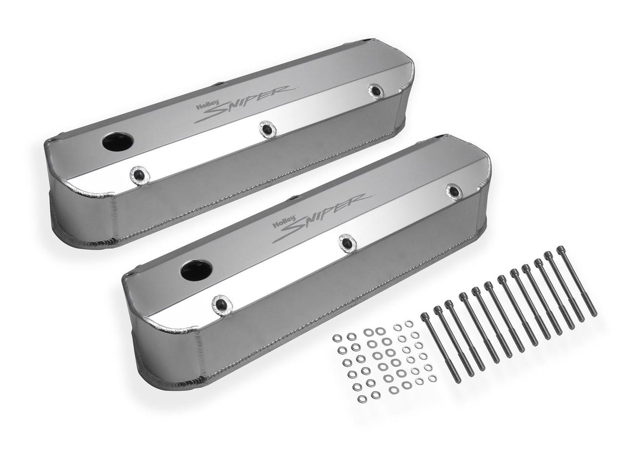 Holley Sniper Fabricated Aluminum Valve Covers 890012
