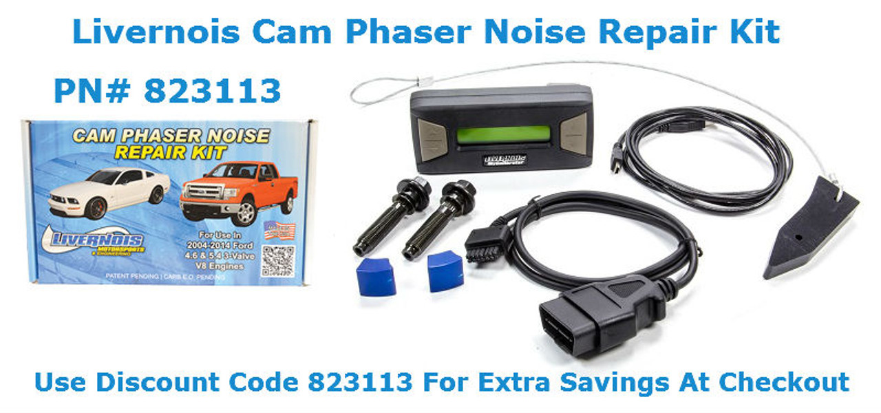 LIVERNOIS Motorsports Ford 3V Cam Phaser Noise Repair Kit 823113 - Use Discount Code 823113 For Added Savings At Checkout