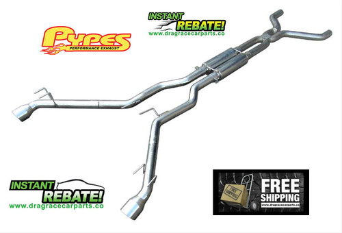 Pypes Performance Exhaust Converter-Back Exhaust System 10-14 Chevy Camaro 3.6L V6 SGF52K with FREE SHIPPING and INSTANT REBATE SAVINGS