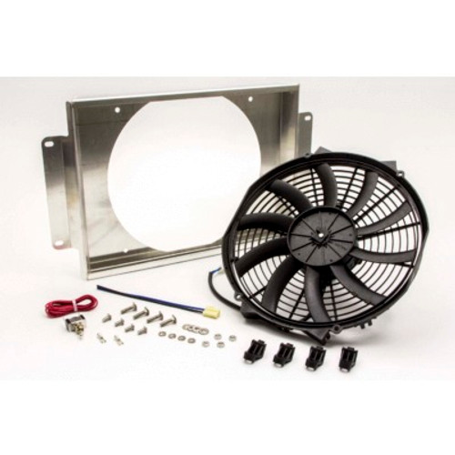 AFCO Racing Electric Cooling Fan and Aluminum Shroud Kit 80104NFAN (FAN AND SHROUD KIT ONLY)