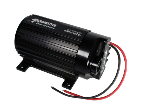 Aeromotive ELIMINATOR Brushless In Line Electric Fuel Pump 11184 FREE SHIPPING 1300 lb/hr at 9 psi, 12 AN O-Ring Female Inlet, 10 AN O-Ring Female Outlet, Black, Gas, E85, Diesel, Each