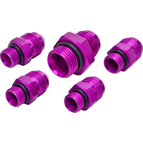 Kit includes one -10 AN fitting and four -8 AN fittings and O-rings MP-3605