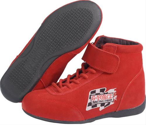G-FORCE GF235 Race Grip Mid-Top Racing Shoes 0235060RD