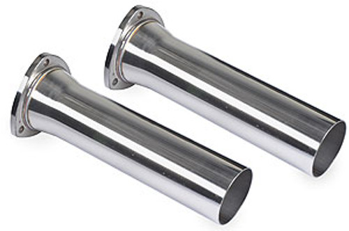 Pypes Header Reducers, 3-Bolt Flange, 3 1/2 inch Collector Inlet, 3 inch Tube Outlet Diameter, 12 Inches Long, Stainless Steel, Polished, 1 Pair, PVR13S