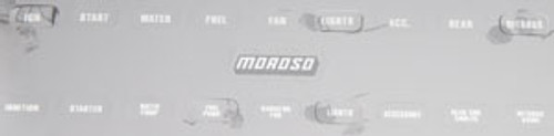Moroso Replacement Switch Panel Label Decals 97542
