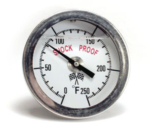 BigEnd Performance LIQUID FILLED ENGINE THERMOMETER GAUGE, 0º-250º F degrees BEP15015