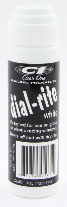 Clear One Pocket Size Dial-Rite Window Marker White 1 oz DRP1