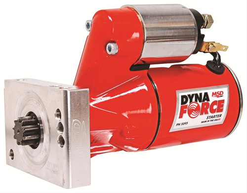 MSD Ignition DynaForce Mini Starter SBC BBC Chevy 5095 FREE SHIPPING Starter, DynaForce, 4.4:1 Gear Reduction, Red, 153 / 168 Tooth Flywheels, Straight Bolt, Chevy V8, Each