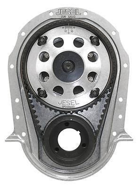 Jesel 2-Piece Upper Pulley Belt Drive Systems, Dry System, Chevy, Gen VI Big Block, 6-Bolt Timing Cover, Kit KBD-32300 with FREE SHIPPING