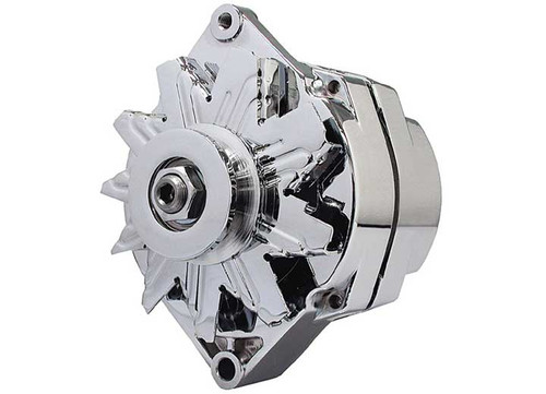 Big End Performance GM Chrome 100 amp 1 Wire Alternator BEP50050