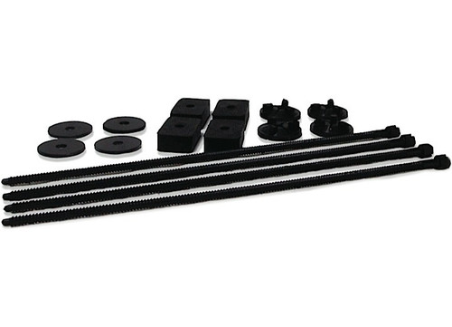 Kit Includes 4 nylon bolts, washers, nuts, and rubber spacers