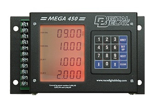 Digital Delay MEGA 450 Delay Box Black with Red Display 1045PL-BR