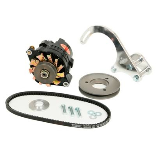 Powermaster 100 Amp Low Mount Drag Race Alternator Kit 8-898 with FREE SHIPPING