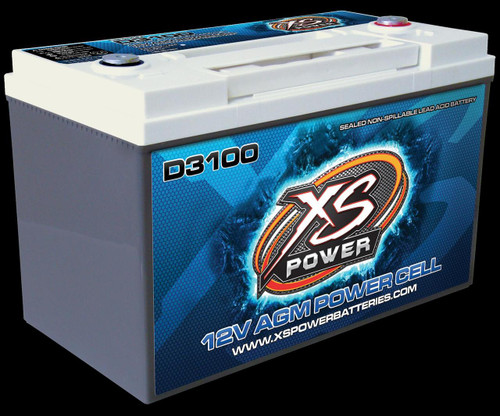 XS Power 12 Volt Top Post AGM Battery D3100 with FREE SHIPPING