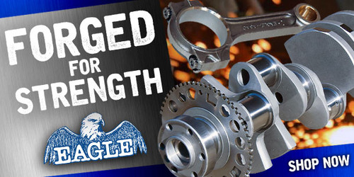Eagle Specialty Products Competition Rotating Assemblies, Forged Crank, Forged Pistons, H-Beam Rods, Chevy, Big Block, 496 Cubic Inches, Internal Balance Assembly, Kit, B11012060