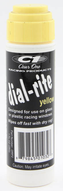 Clear One Pocket Size Dial-Rite Window Marker YELLOW 1 oz DRP2