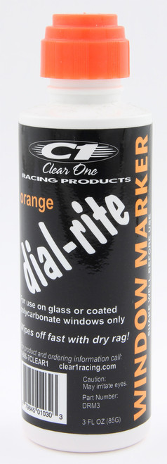 Clear One Dial-Rite Window Markers ORANGE DRM3