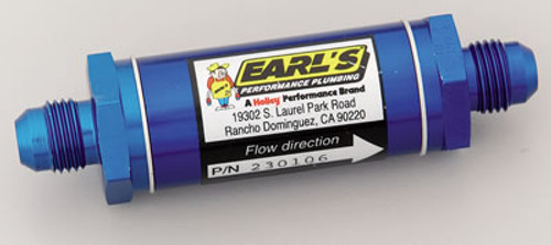 Earl's Performance Inline Fuel Filters 230106ERL