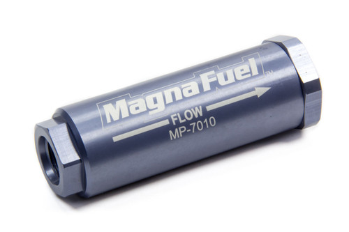 Fuel Filter, Gasoline, Alcohol, Aluminum Housing, 25 Microns, -8 AN Inlet/Outlet, Each MP-7010