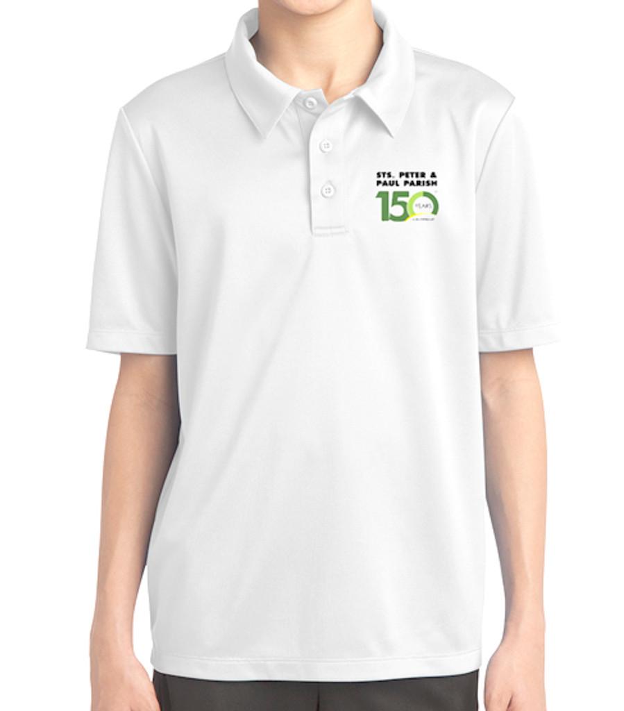 Youth White Polo