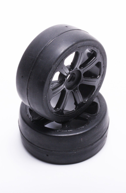 FP1800SSB FP Pre-Mounted 1/8 GT Tires Soft (35) Black 2pcs