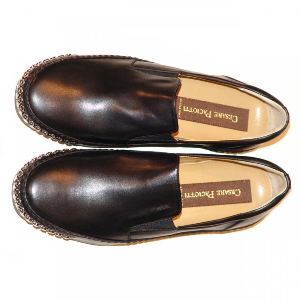 Cesare Paciotti 47664 Black Loafer With Studs