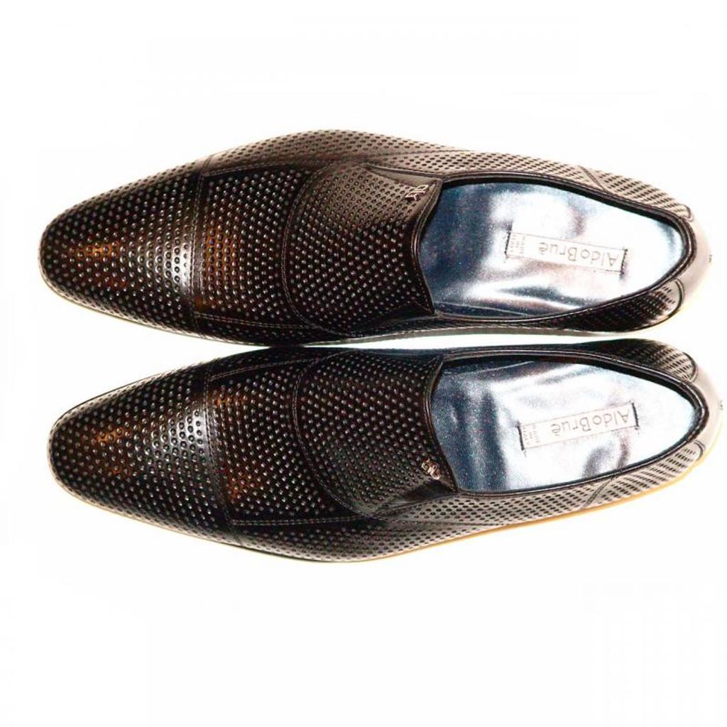 Aldo Brue 416 Perforated Cap Toe Loafer Black
