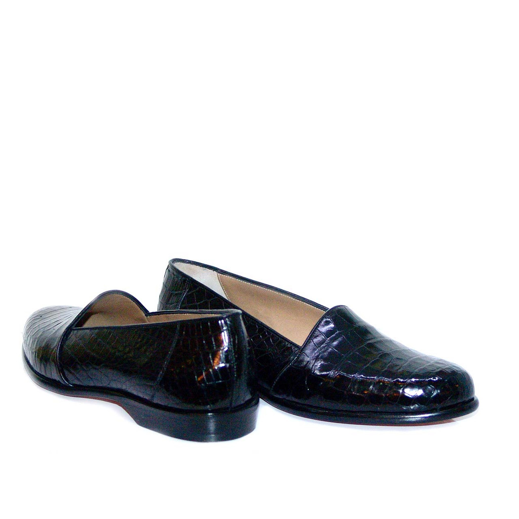 Romano Martegani Asti Baby Alligator Low Vamp Black
