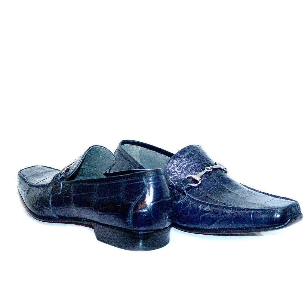Romano Martegani 4875 Alligator Bit Loafer Navy