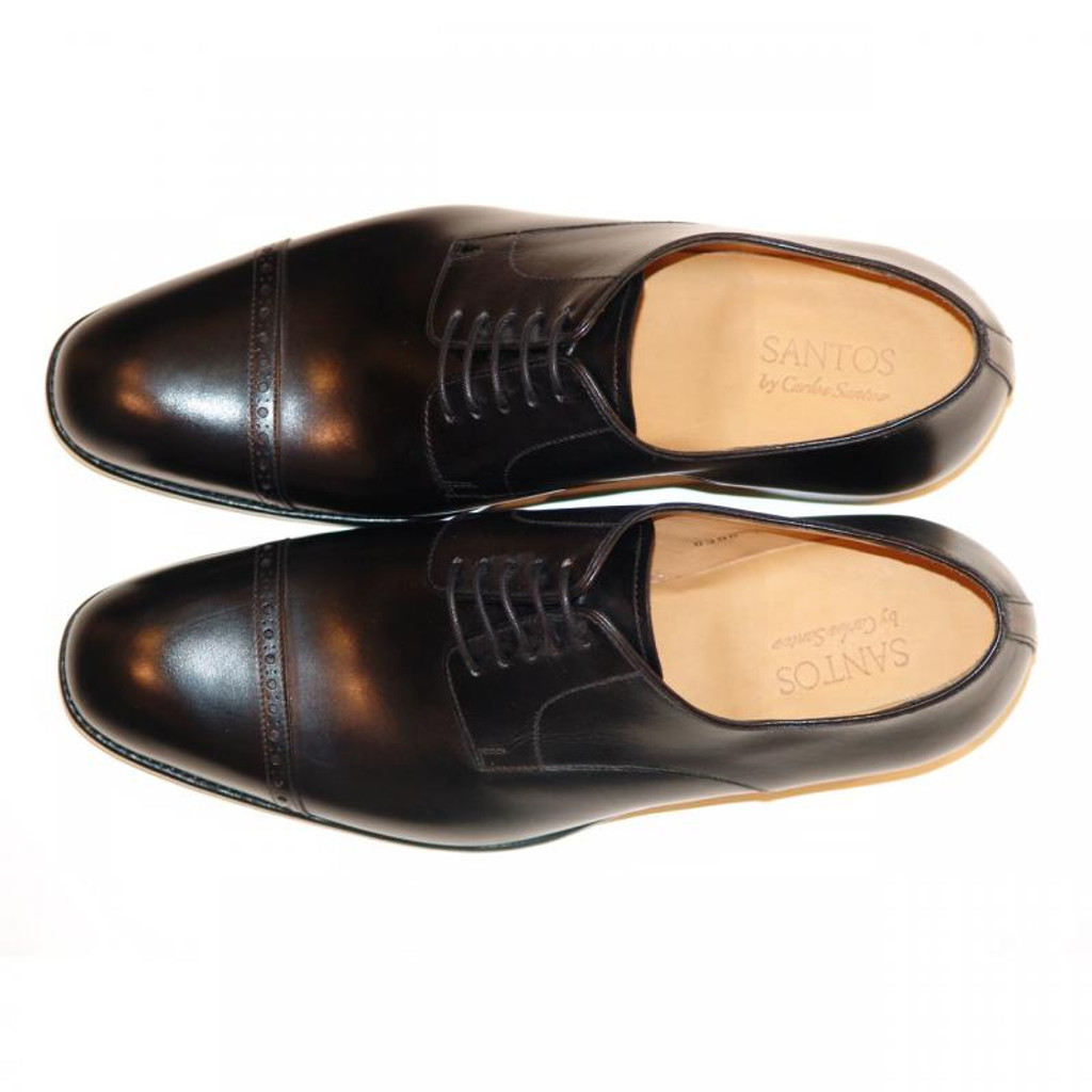 Pelle Line Exclusive Rochester Cap Toe Lace Up Black