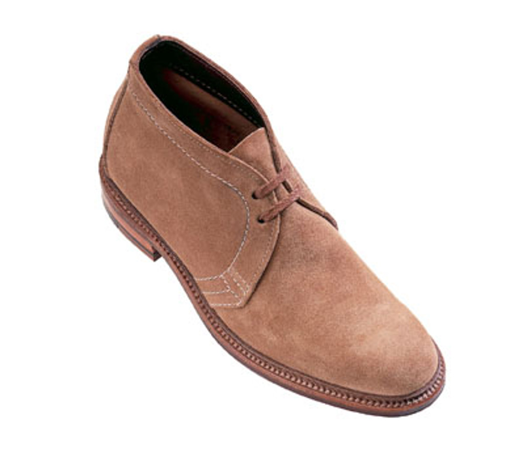 Alden 1494 Unlined Chukka Boot Tan Suede