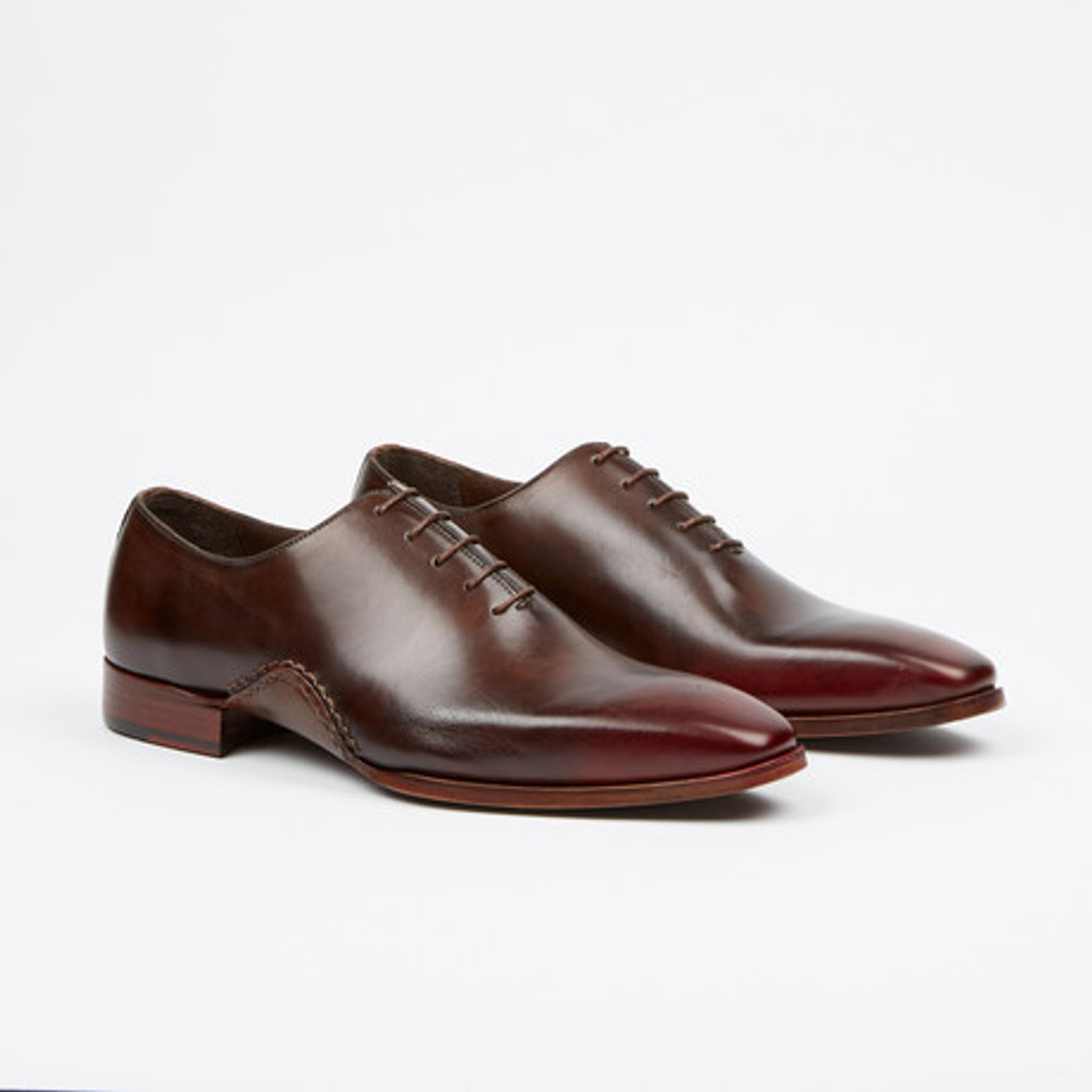 Fertini 8805 Plain toe lace up- Brown/Red